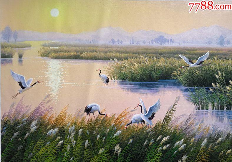 朝鲜一级画家韩成俊风景油画鹤的家乡_第5张_7788收藏__中国收藏热线图片