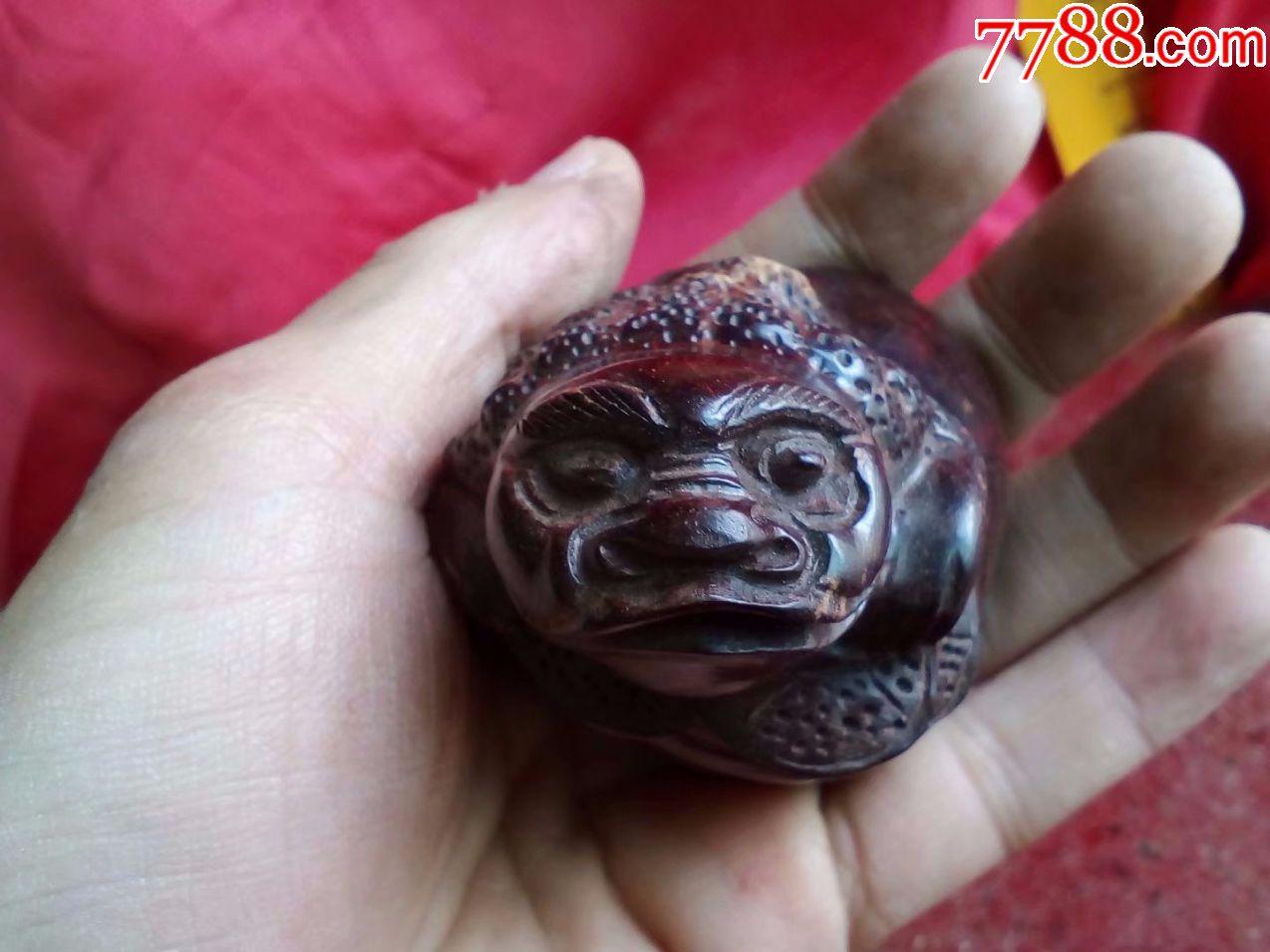 特价,红木,纯手工雕刻花鸟动物,招财金蟾,手把玩件,很快卖了