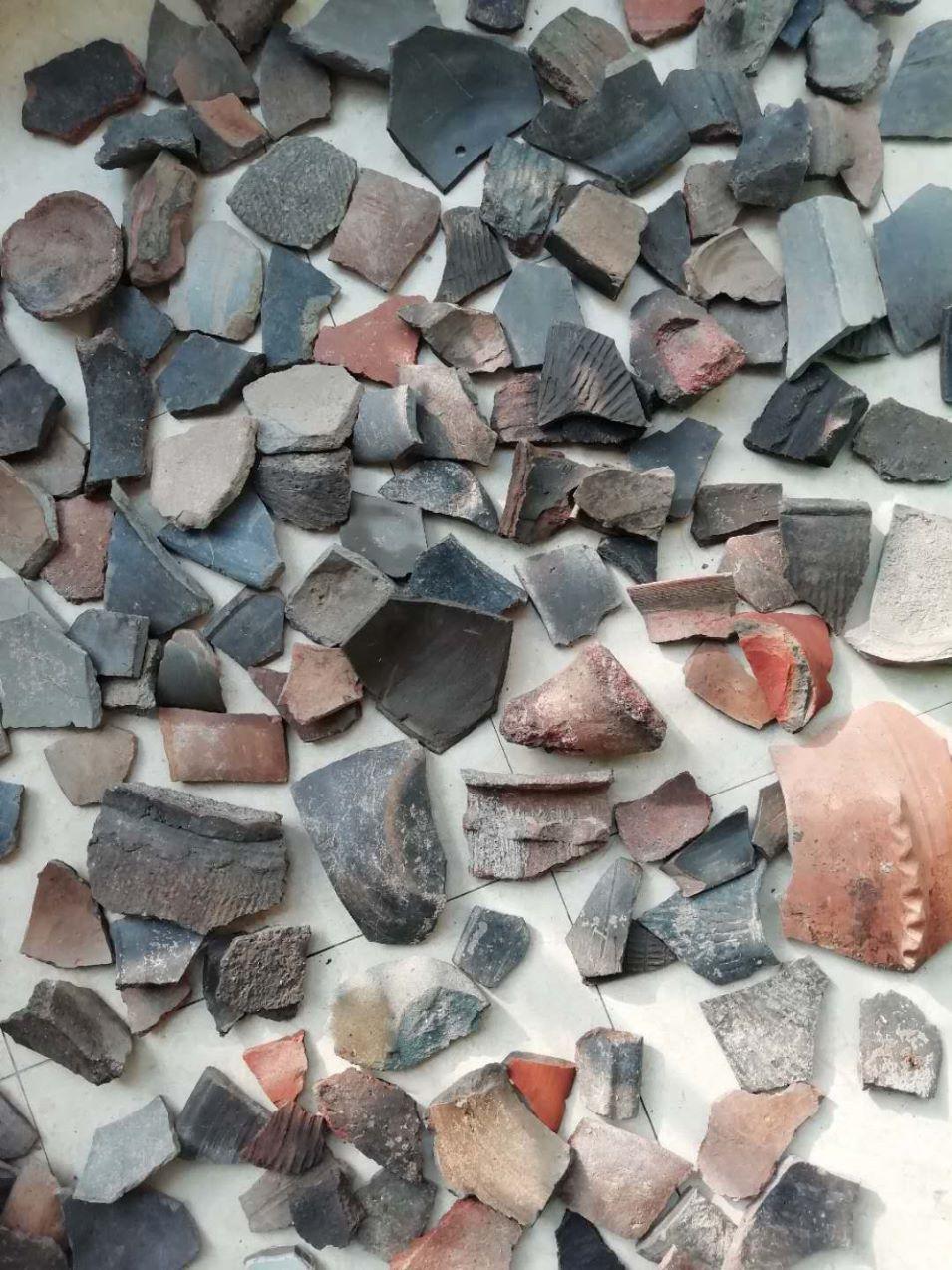 豫西仰韶文化至龙山陶器残片标本一组,约100片(se63468250)_