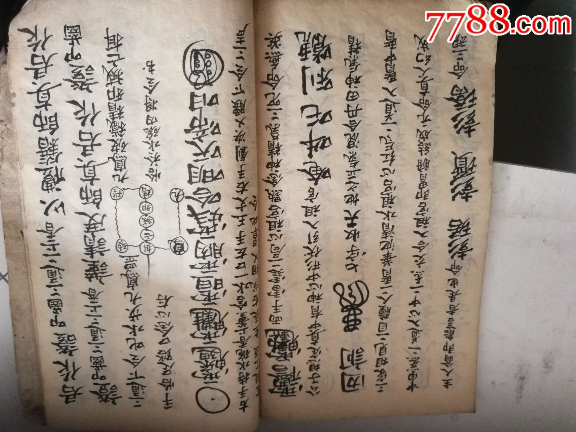 咸丰二年关西氏住宿符法秘籍好品一厚本手书汤口攻略图片