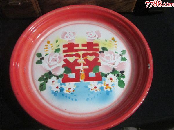 上世纪60-80年代沈阳搪瓷厂红玫瑰牌双喜卉纹造型题材
