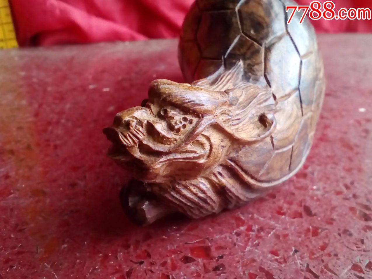 包邮特价越南黄花梨木,纯手工雕刻动物瑞兽花鸟之龙龟