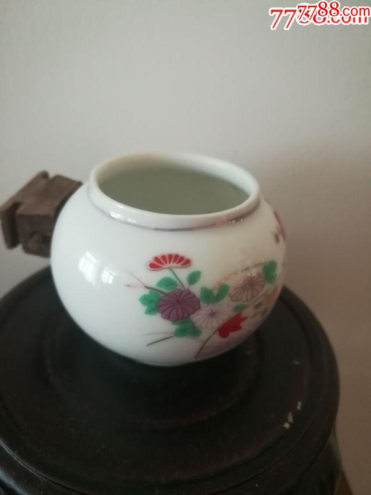 景德镇手绘描金鸟食罐