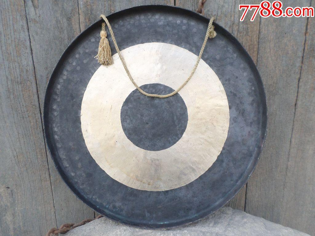 乐器三线老铜器锣钹镲铜杂项敲击打视频纯铜手一分古玩民族图片