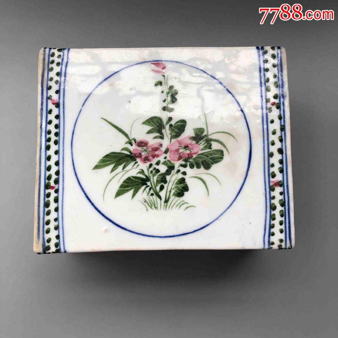 古瓷器,民��釉下彩花卉�y瓷枕(se64797441)_