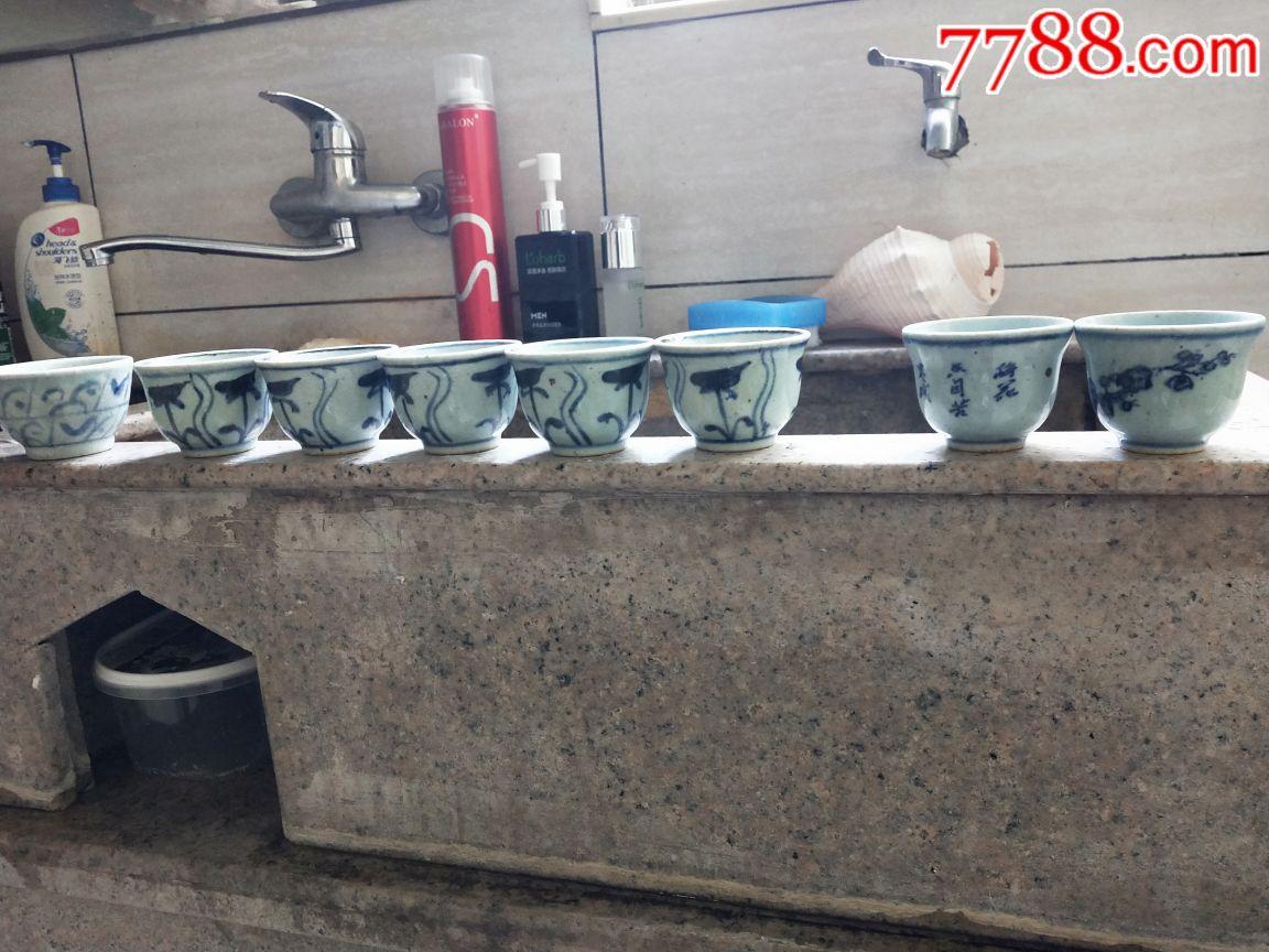 8个青花小杯(se64836066)_