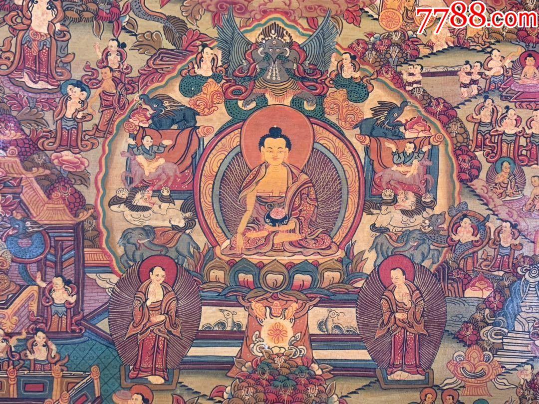 藏传佛教,寺庙老药师佛唐卡