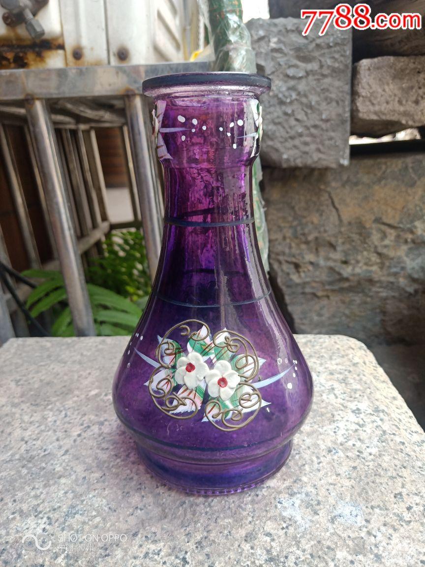 八十年代博山老琉璃仿玛瑙色花瓶-价格:80.0000元-s... -7788收藏