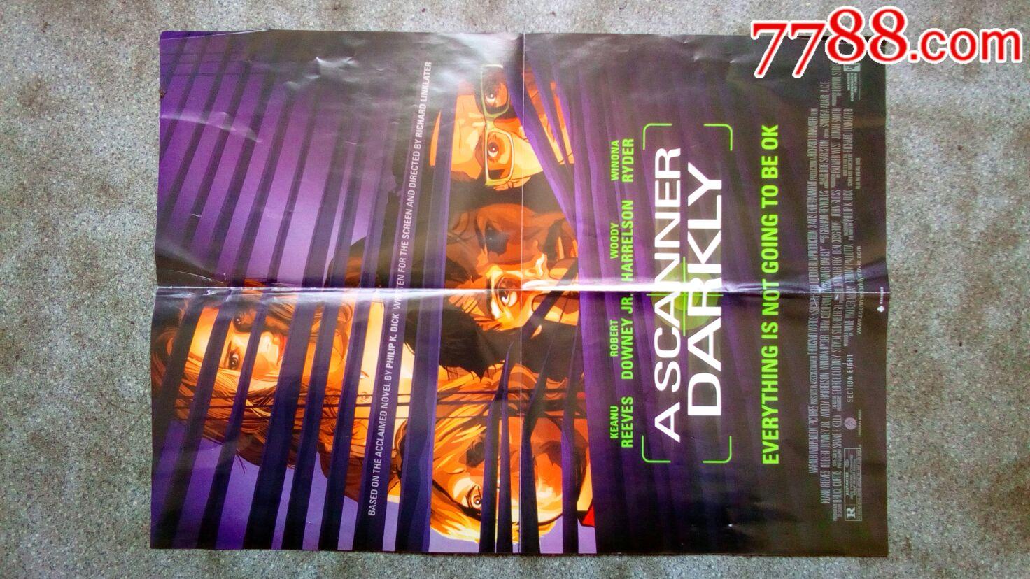 电影海报--加菲猫2之双猫记/黑暗扫描仪(看电影)4开8品
