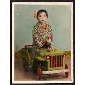 手工上色,玩具汽车里的小女孩,背面有注释(se65506054)_7788旧货商城__七七八八商品交易平台(7788.com)