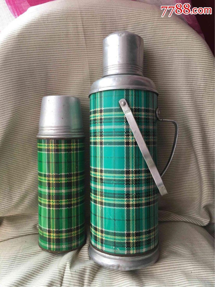 荆江牌暖壶暖水瓶保温瓶绿格怀旧收藏影视道具图片