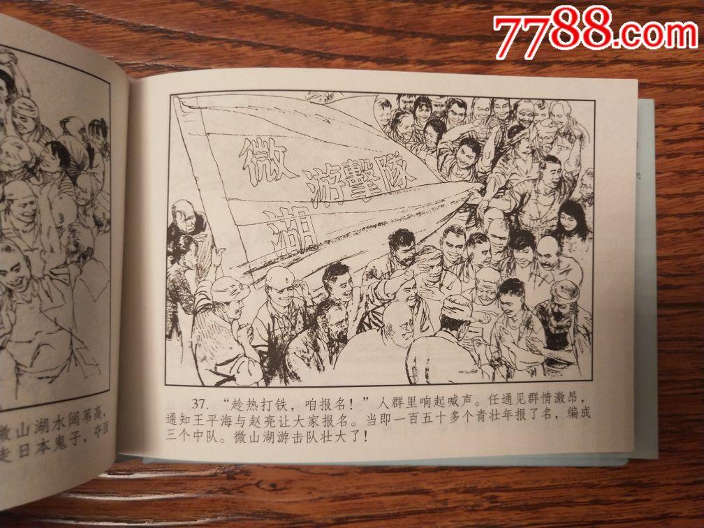 8折现货包邮50开小精《微湖游击队》(首次出版,原稿印刷)图片
