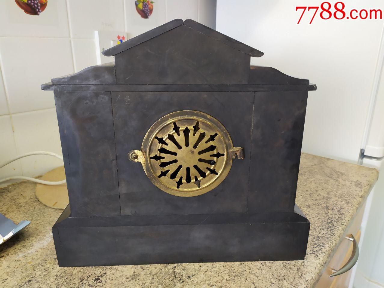 美国古董大理石座钟,英国邮寄,大理石钟壳免费赠送,邮费另计!