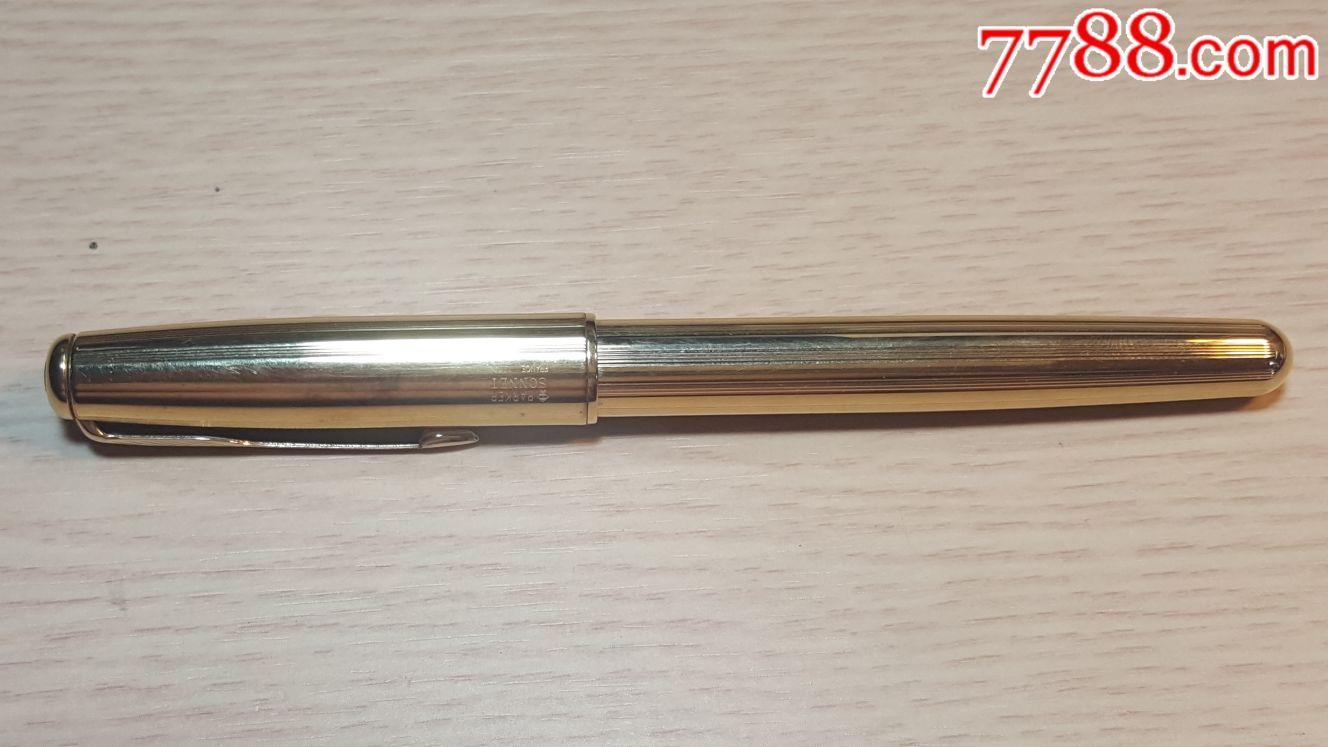 95新,法国产,派克钢笔,包金笔壳,笔尖小瑕疵,不影响用,配一次性墨囊(se66132470)_