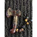 天然��瑙手工掐�z�嵌��石法器法斧,辟邪法器-¥380 元_其他宗教藏品_7788�W