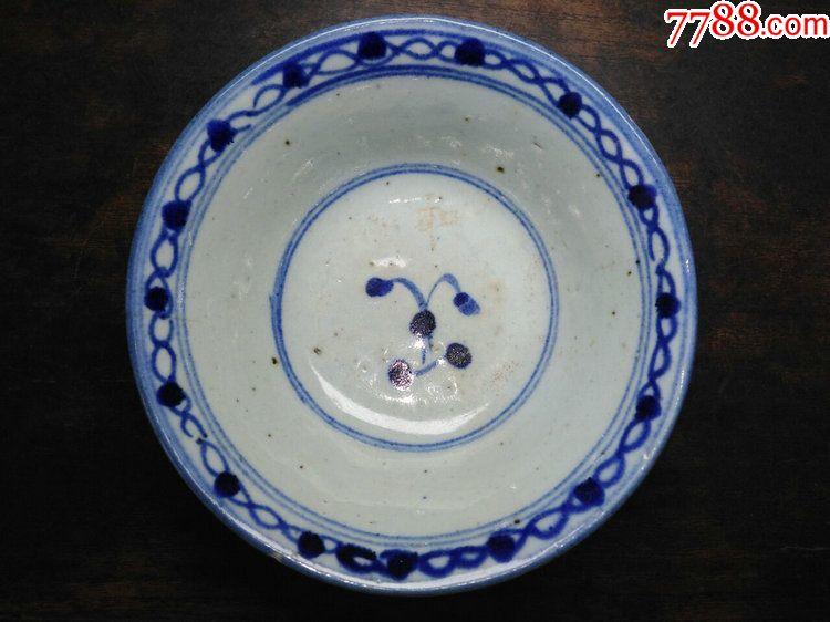 清代景德镇民窑瓷器青花底款碗图片