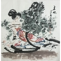 【薛林�d】��家一�美�g��、中美�f���T、手�L四尺斗方人物��(68*68CM)-¥159 元_人物����原作_7788�W