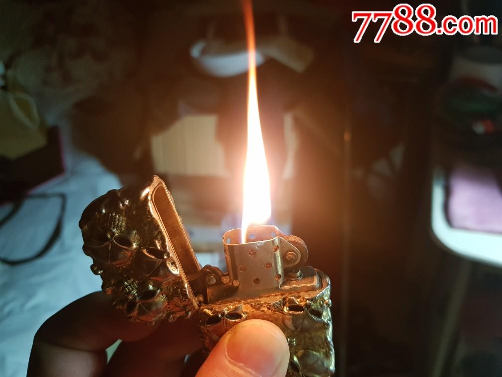 85新,美国产,zippo打火机,DIY镀金银壳(se67539534)_