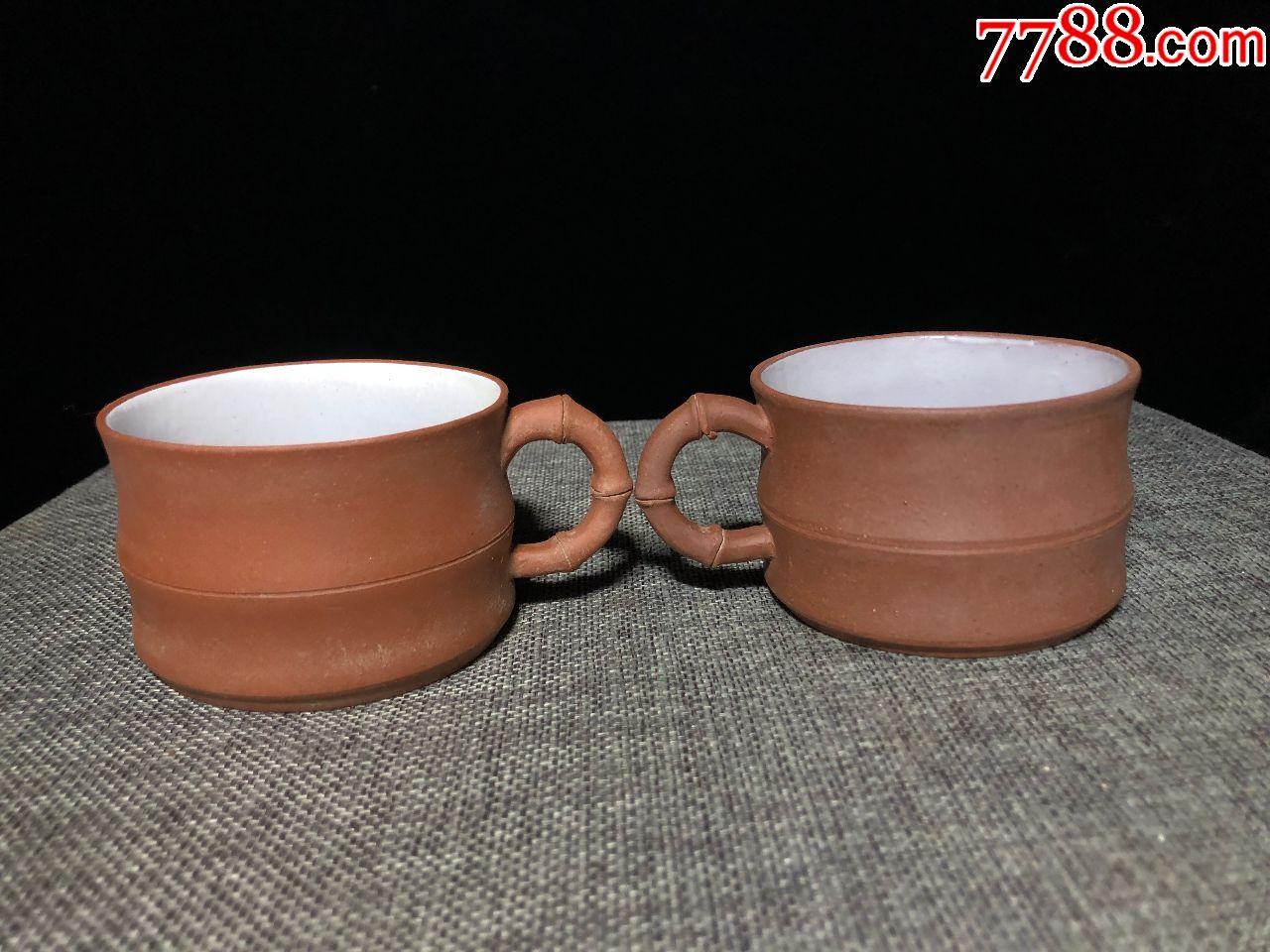 紫砂竹节茶杯一对(se68006038)_