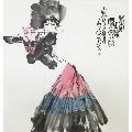 ※【董辰生】中美协理事、四尺斗方手绘人物画(68*68CM)3-¥149 元_人物国画原作_7788网