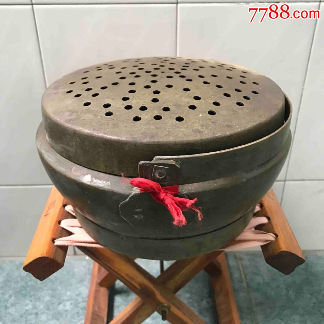 铜杂件铜脚炉民俗老货苏作手工黄铜火炉品好收藏怀旧家用婚庆馈赠(se68034847)_