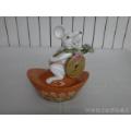80年代石湾陶瓷公仔生肖鼠摆件(招财进宝)(2)-¥55 元_彩陶_7788网