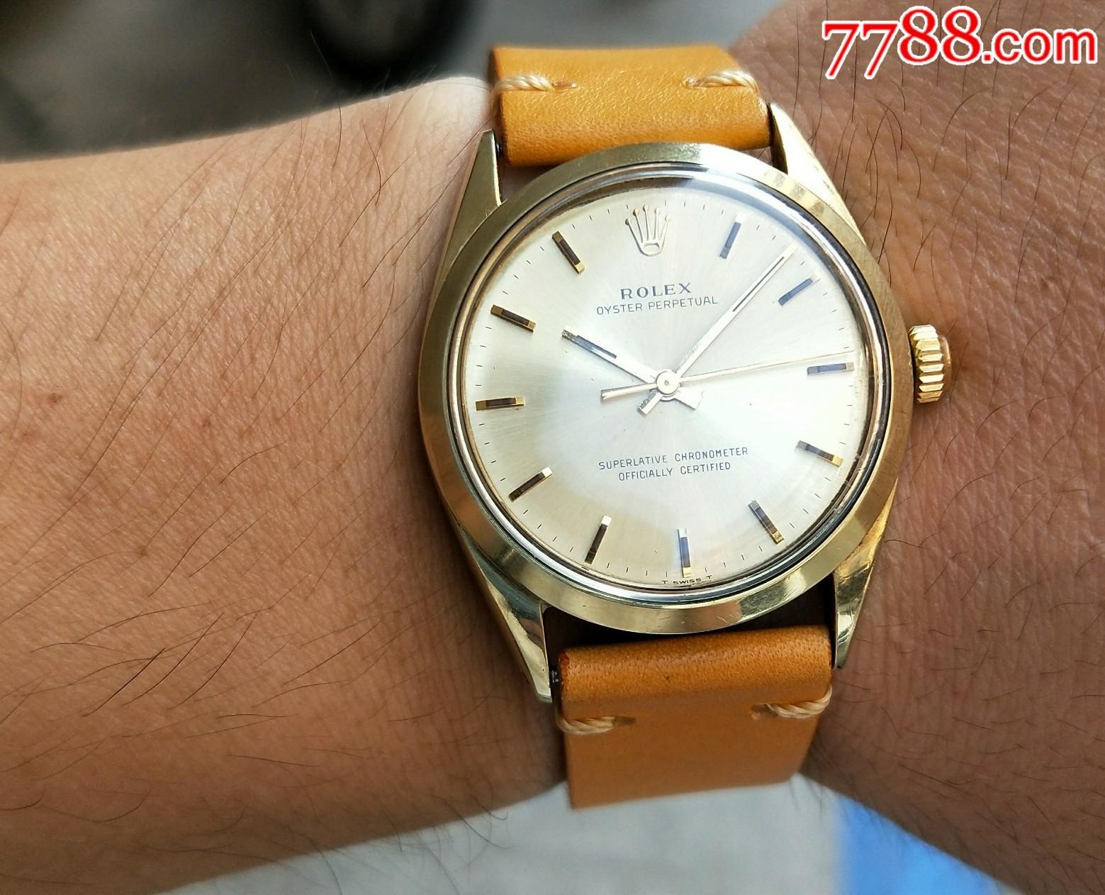 二手手表:瑞士古董�诹κ�18k套金耳1570自��C械表(se68819998)_