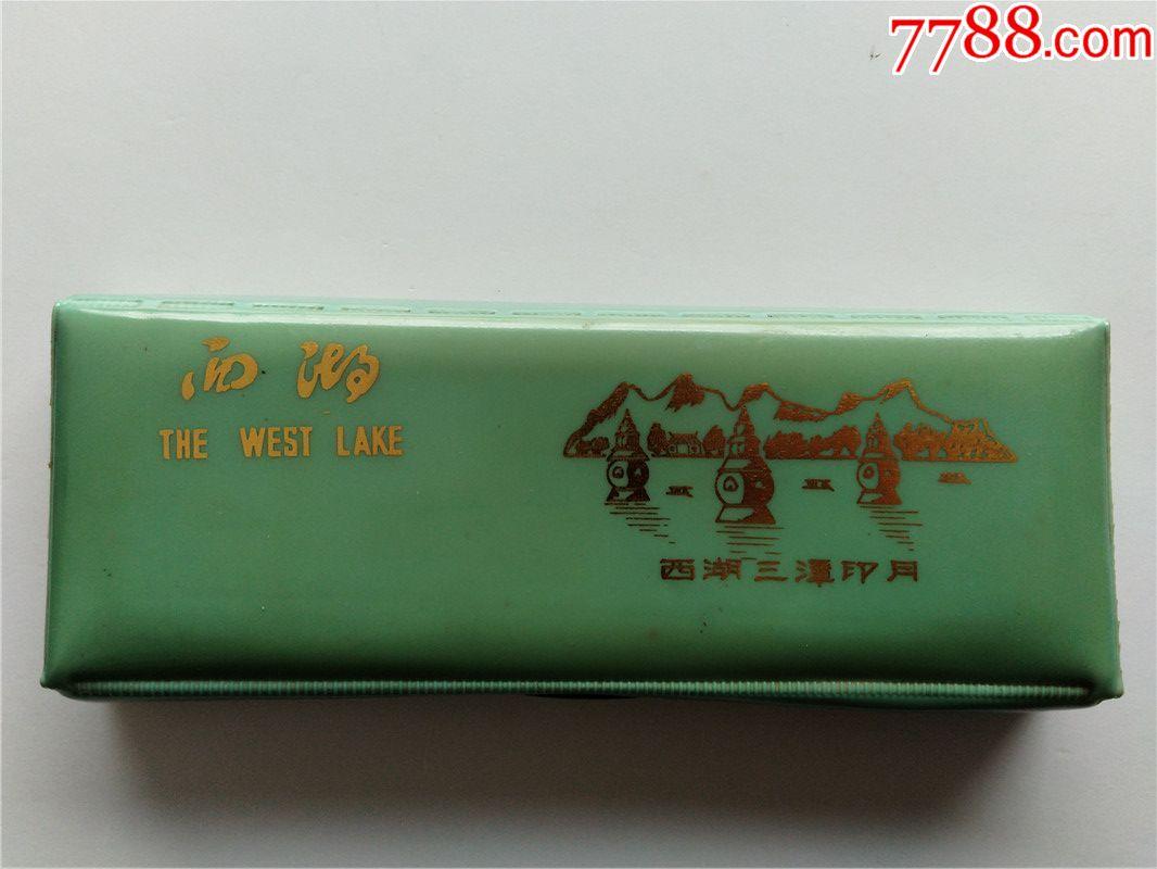 罕见中国浙江生产的西湖美景三潭印月图案文具盒全网唯一童年怀旧老物件(se69046063)_