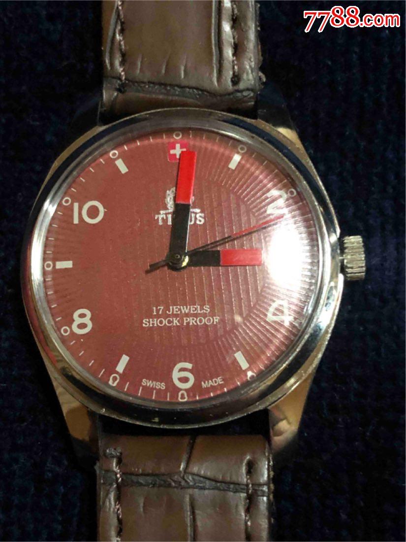 男士古董铁达时手动机械腕表(se69125281)_