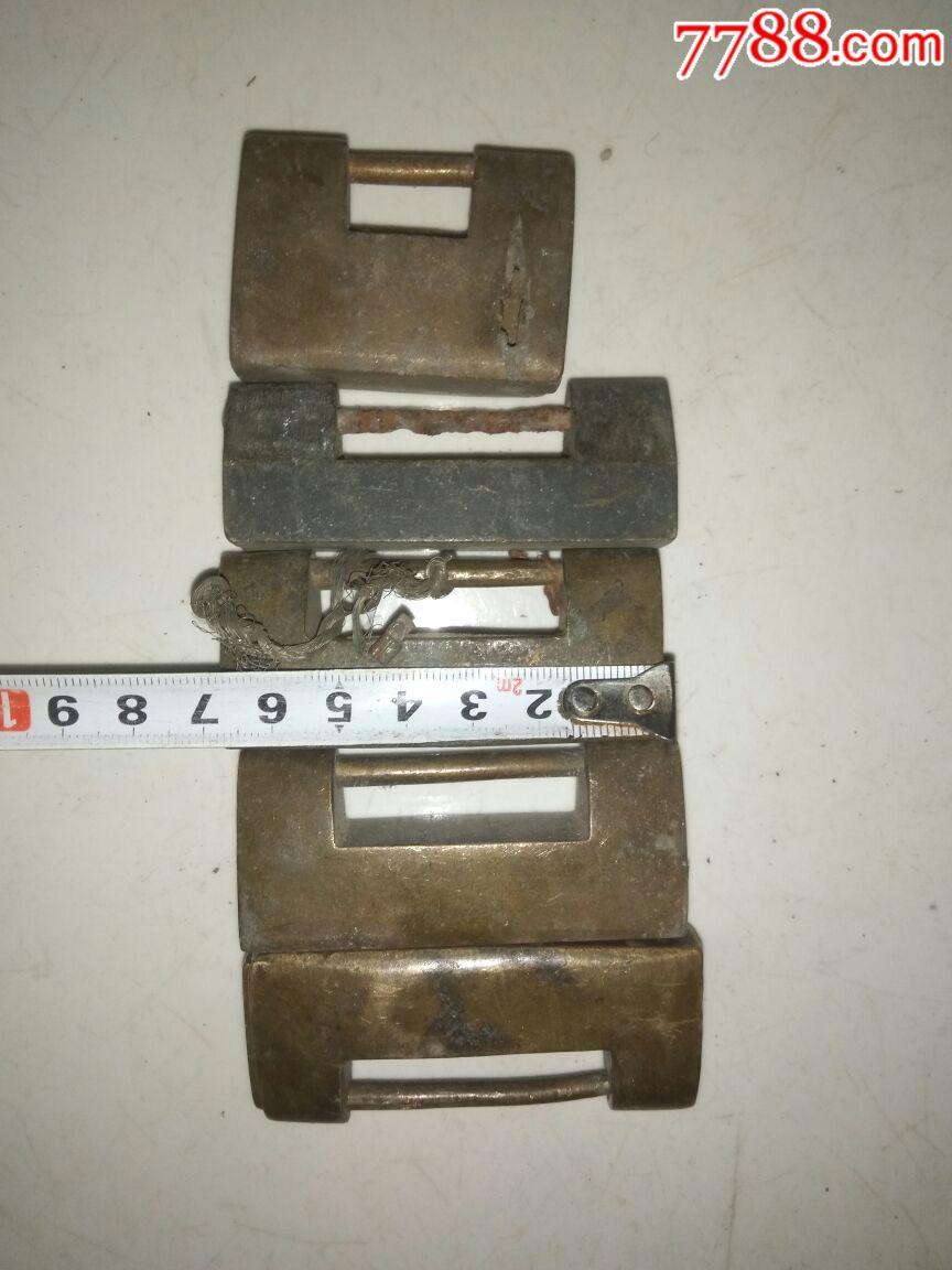 5个无钥匙残料铜锁【进店捡漏】