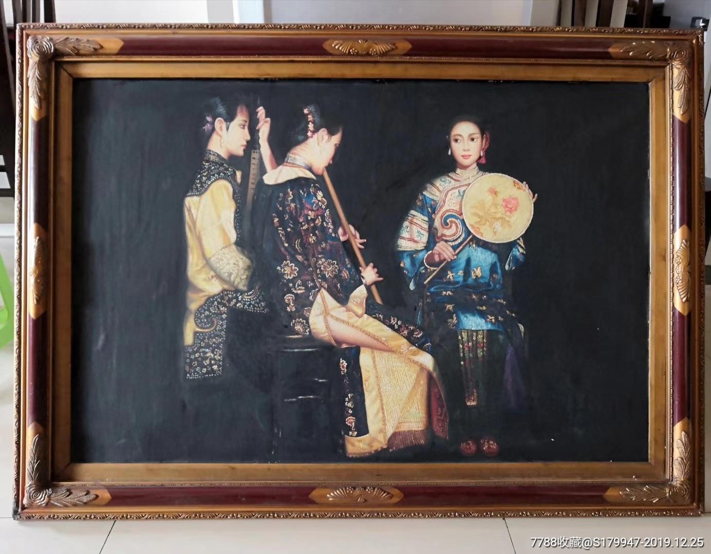 人物油画作品~浔阳遗韵(se70355709)_