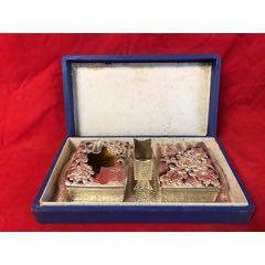 民国时期日本做的锡器镀银烟具一套-¥750 元_烟灰缸_7788网
