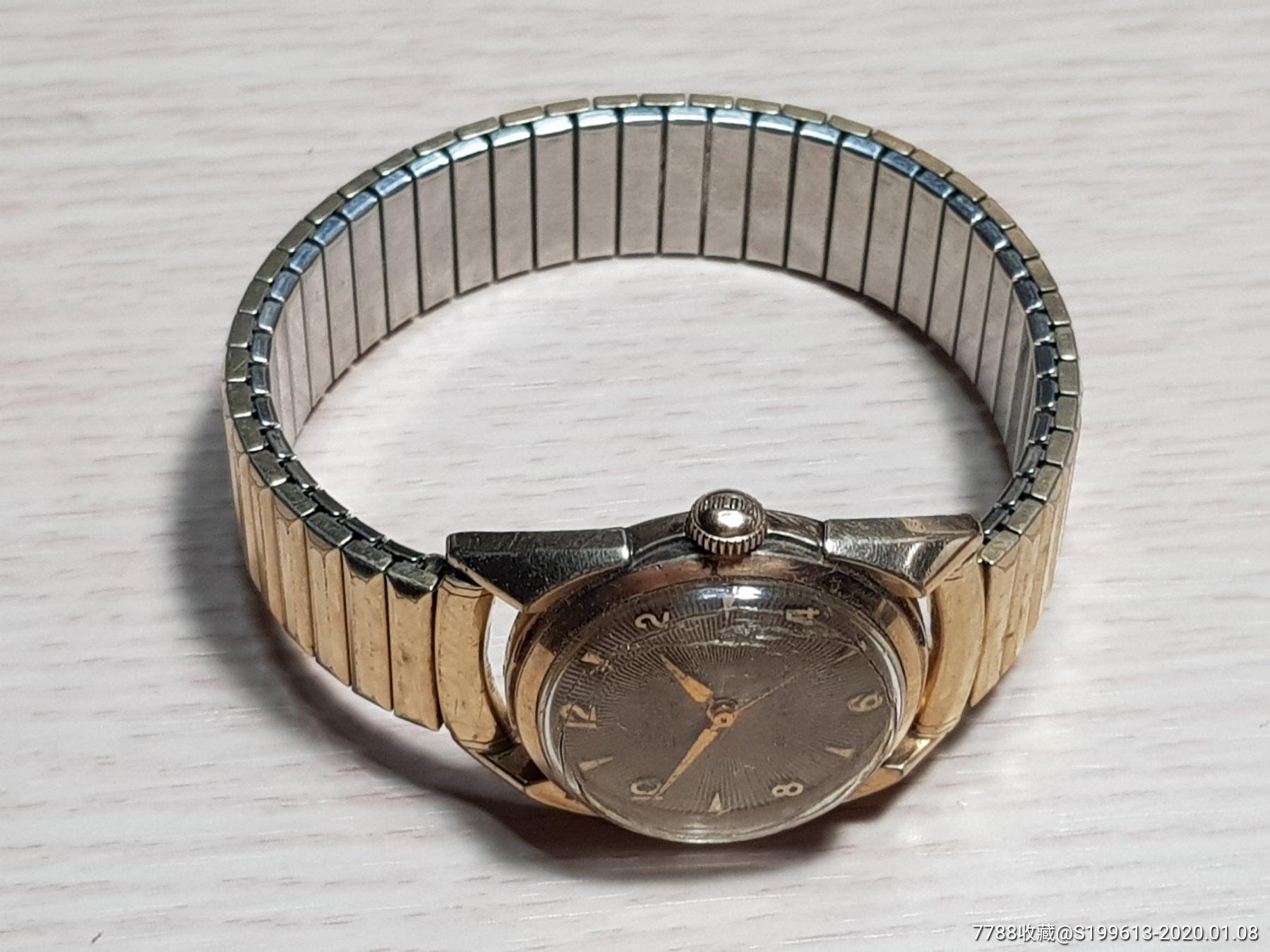 7品,10k包金,��路�A�C械手表,老蒙子有裂�y,原�b包金表��(se70608129)_