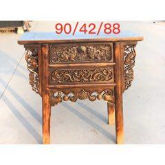 高浮雕刻供桌,全品榆木,品相如�D,雕刻精�栩栩如生。-¥1,560 元_木桌/��/案_7788�W