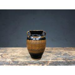 【黑釉波纹双系瓶】-¥200 元_黑瓷/酱釉瓷_7788网
