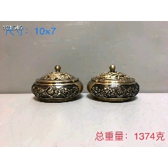 铜熏香炉一对,做工精细-¥680 元_香炉/香器_7788网