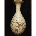 白釉刻花赏瓶-¥600 元_白瓷/青白瓷_7788网