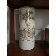 古玩瓷器民國時期人物帽桶殘器,名家萬子林(se71352407)_7788收藏__收藏熱線