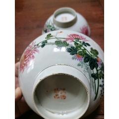 古玩瓷器民國時期花卉大碗一對,江西珍品,收藏品(se71352418)_7788收藏__收藏熱線