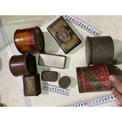 民國滿洲時期遺留鐵盒一組9個-¥200 元_鐵皮盒/鐵筒_7788網