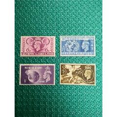 HE4英国1948年第十四届英国伦敦夏季(主办国)奥运会邮票4全