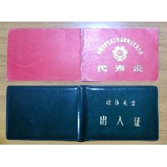 石羽先生舊藏出入證代表證2張(se75165077)_7788舊貨商城__七七八八商品交易平臺(7788.com)