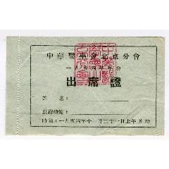 1954年中華醫學會北京分會年會出席證(au24727616)_7788舊貨商城__七七八八商品交易平臺(7788.com)