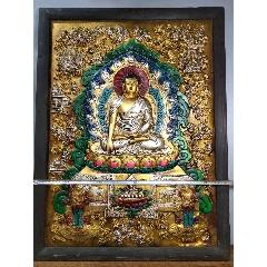 舊藏西藏唐卡佛像木框彩繪唐卡大背光釋迦如來佛一尊恭請供奉家居裝飾掛畫高(se77065746)_7788舊貨商城__七七八八商品交易平臺(7788.com)