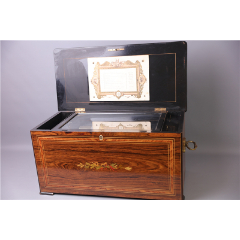 19世紀瑞士古董八音盒滾筒八音盒風琴伴奏10曲機械八音盒(se77216402)_7788舊貨商城__七七八八商品交易平臺(7788.com)