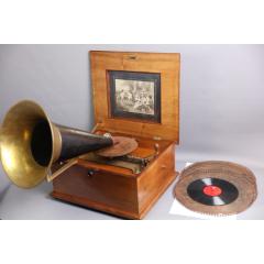 上世紀德國Polyphon古董機械八音盒留聲機一體機(se77237901)_7788舊貨商城__七七八八商品交易平臺(7788.com)