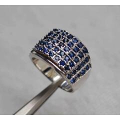 藍寶石銀戒指天然斯里蘭卡藍寶石鍍925銀戒指(se77242464)_7788舊貨商城__七七八八商品交易平臺(7788.com)