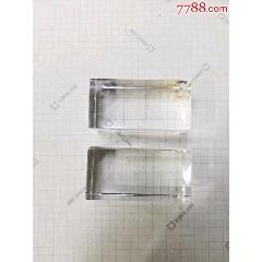 水晶方形印章一對,未刻字(se77246805)_7788舊貨商城__七七八八商品交易平臺(7788.com)
