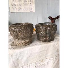 青石石臼兩個代雕刻包漿自然。包老全品(se77259854)_7788舊貨商城__七七八八商品交易平臺(7788.com)