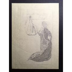 80年代鉛筆手繪阿拉伯風格人物畫稿原稿1張(se77269479)_7788舊貨商城__七七八八商品交易平臺(7788.com)